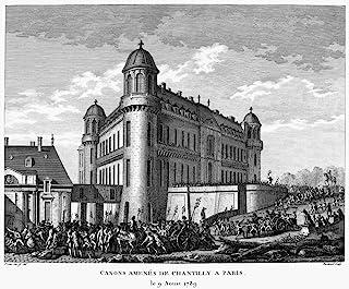 法国革命 1789 Nartillery Being From The Chateau De Chantilly To Paris 1789 年 8 月 9 日当代法国雕刻 Jean-Louis Prieur 海报印刷品 (45.72 x 60...