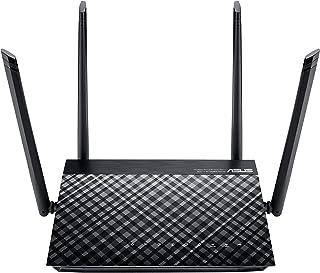 ASUS 华硕 RT 双频无线路由器 4 x 快速以太网 AC1200 801_11_AC 黑色
