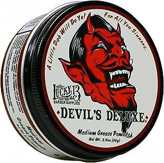 Lucky 13 Devil's 豪华中型油脂润发油 3.4 盎司(约 96.4 克)   油基   中等光泽