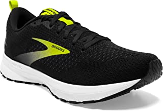 Brooks 男式 Revel 4 跑鞋, Black/White/Nightlife 10 UK
