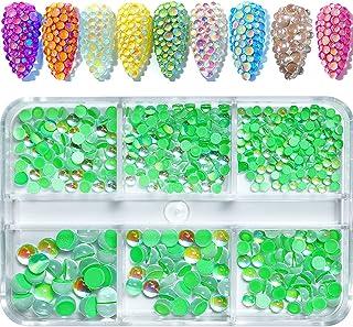 540 件闪亮*水钻套装 3D 极光糖果彩色水钻珠玻璃宝石多形状水钻美甲装饰美甲DIY工艺服饰鞋饰品(*)