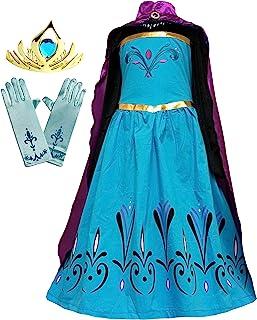 American Vogue Elsa Coronation 服装+斗篷+手套 + 皇冠
