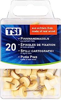 TSI 4022792483607 图钉,由真正的木材制成,20件装