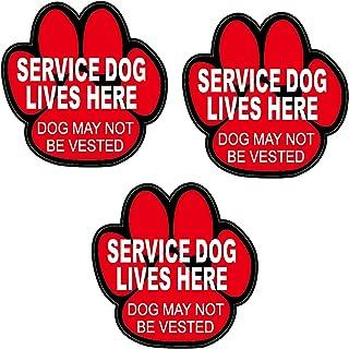 Skywin 服务狗贴纸 - 警惕狗服务狗狗贴纸,防刮和防紫外线乙烯基贴纸