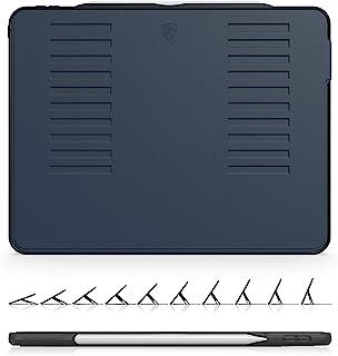 The Muse Case - 2018 iPad Pro 12.9 英寸 *三代(旧型号) - 非常保护但轻薄 + 方便的磁性支架 + */唤醒盖(*蓝)(型号 # A1876、A2014、A1895、A1983)