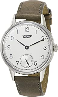 [Tissot 天梭] 手表 天梭 Heritage 2018 银色表盘 皮革表带 T1194051603701 男款 棕色