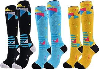 NEDLEDK 儿童滑雪袜(2/3 双)保暖保暖雪地袜,厚实,3-11 岁男孩和女孩,用于雪