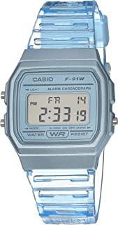 Casio 卡西欧 石英手表树脂表带,蓝色,20(型号:F-91WS-2CF)