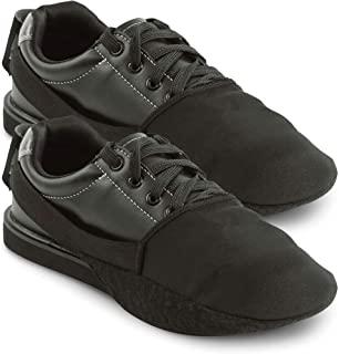 保龄球鞋滑块 2 件装 / 1 双可调节鞋底滑盖 | 均码适合大多数男士和女士 | 弹性带打造尺寸适应 | 完美的保龄球配件
