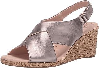 Clarks 女式 Lafley Alaine 坡跟凉鞋