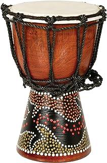X8 鼓迷你非洲鼓,带壁虎图案设计