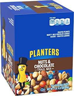 Planters Trail Mix, Nuts & Chocolate, 1.7-Ounce Tubes (Pack of 18)