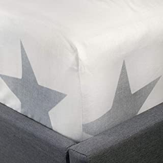 Fusion - Cosy Star - * 拉绒棉 26 厘米床笠-灰色双人床尺寸