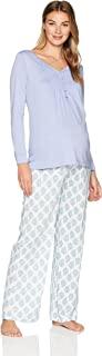 Belabumbum 女式紫罗兰孕妇和护理束腰外衣和休闲睡衣套装