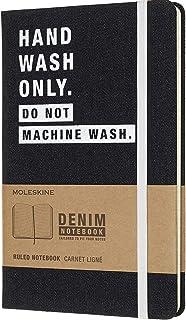 Moleskine 牛仔布《只可手洗》大型横线笔记本