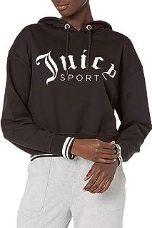 Juicy Couture 女士短款徽标套头连帽衫