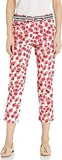 Rafaella 女士珠地布束腰带七分裤