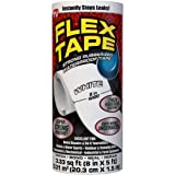 Flex 胶带橡胶防水胶带,白色 8 inches x 5 feet 白色 TFSWHTR0805 1