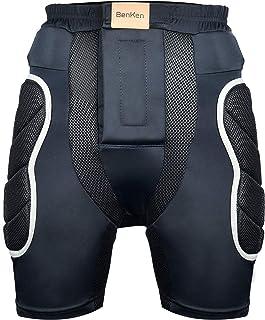 BenKen 保护性加垫短裤,3D EVA 衬垫冲击防护装备,适用于单板滑雪、滑冰和滑雪,骑行内衣短裤适合臀部和尾骨