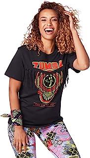Zumba 女士 T 恤,时尚印花 Basic Black Large