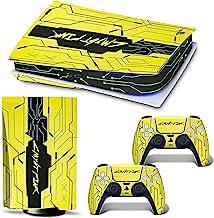 DLseego PS5 皮肤贴纸 酷炫漂亮图案 全包裹皮肤保护膜贴纸 兼容 PS5 - 黄色