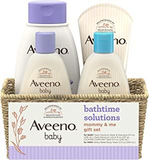 Aveeno 艾维诺 日用Bathtime Solutions礼品套装 滋养婴儿和妈妈的肌肤,共4件