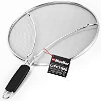 Mueller Grease Splatter 煎锅 13 英寸(约 33.0 厘米),超细网眼可防止 99% 的溅水混…