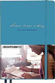LEUCHTTURM1917 灯塔 五年时光笔记本 手账 硬面 中开 北欧蓝色(A5)