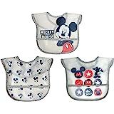 Disney 迪士尼 Neat Solutions 米老鼠 3 件装半透明Peva 幼儿围嘴套装,多色
