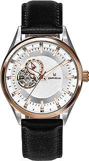 ORPHELIA 自动男士手表平衡皮革表带