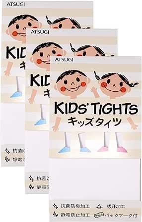 ATSUGI 厚木 儿童连裤袜 儿童用 110D 日本制造 KID'S TIGHTS 3双装 TC6011