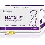 SanaExpert Natalis备孕,妊娠和哺乳期营养补充剂,含18种营养素,如DHA,叶酸,铁和维生素,月用装,每…