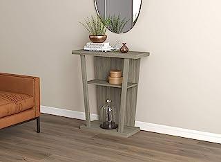 Safdie 81093.Z.05 玄关桌/控制台桌/沙发沙发沙发桌/装饰墙桌-31 长/深灰褐色,带 2 个客厅搁板