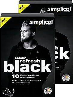 Simplicol Colour Refresh 护色毛巾,黑色,20 件:用于改善服装,明显深黑色