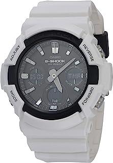 Casio 卡西欧 #GAS100B-7A Men039;s 模拟数字闹钟计时码表 白色 G 震动手表