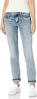 Silver Jeans Co. 女式 Elyse 修身中腰直筒牛仔裤