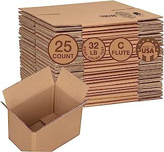 纸板运输箱 | 25.48 x 12.86 厘米 | 小瓦楞箱邮寄 | 25 件装