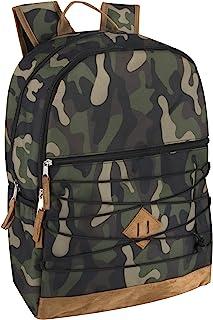 Trailmaker 男孩和男士背包,带衬垫肩带,绒面革底部适合学校和旅行 迷彩 大