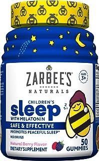 Zarbee's Naturals 儿童入睡褪黑素补充剂,天然浆果味,50粒软糖
