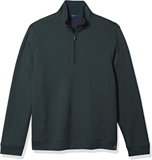 Perry Ellis 男士四分之一拉链长袖企领标志衬衫