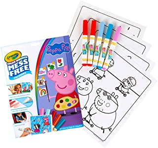 Crayola Color Wonder 着色书页和记号笔,自由着色,送给孩子的礼物 Color Wonder Peppa Pig
