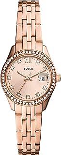 Fossil Scarlette 微型三指针日期不锈钢手表 – ES5038