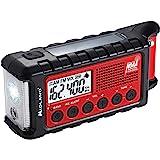 Midland - ER310,紧急曲柄天气 AM/FM 收音机 - 多种电源,紧急手电筒,超声波狗口哨,NOAA 天气…