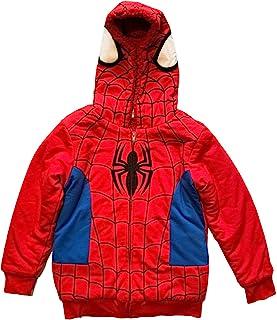 蜘蛛侠小男孩羊羔绒连帽衫