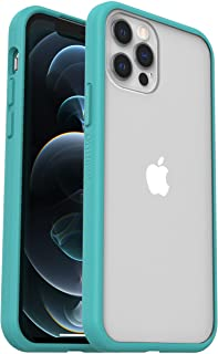 OtterBox Sleek Case - 透明、防摔保护套,适用于 Apple iPhone 12 / 12 Pro 透明 / 蓝色(无零售包装)