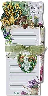 Lissom Design 模切磁性列表板和笔套装,22.23 x 8.75 英寸,信仰和爱