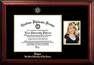 校园图像 NCAA 罗格斯 猩红骑士 金色浮雕文凭框架 12.7 x 17.78 cm 肖像棕色,均码