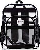 学校 XL 透明背包 - 重型书包具有 TSA 锁 - 钥匙包 - 开瓶器 - 双向拉链 - 内部,外部拉链口袋 - 可…