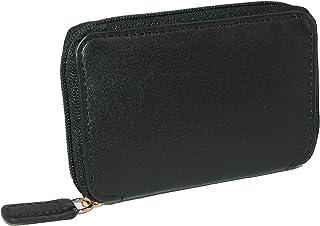 Winn International 男士皮革拉链钥匙包,黑色