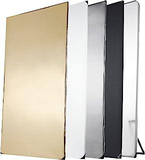Walimex Pro 5合1 反光板(1 x 2 m)黑色/银色/白色/金色/透光(包括运输袋)